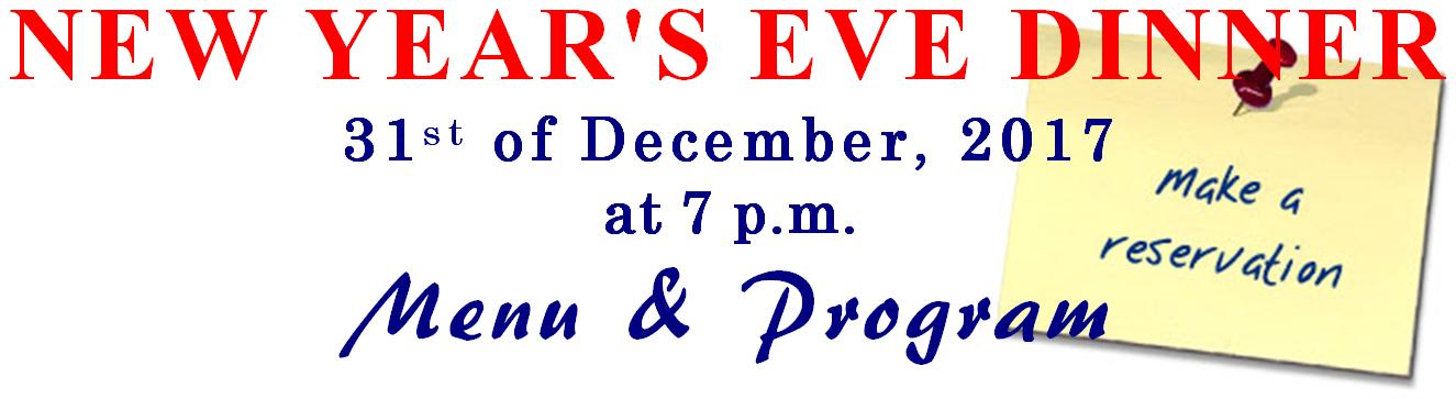 Vörös Postakocsi Restaurant. Budapest, Hungary. NEW YEAR'S EVE DINNER starts on the 31st of December, 2017 at 7 p.m. Menu & programme. Make your reservation today.